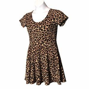 RUE21 leopard skater dress size medium
